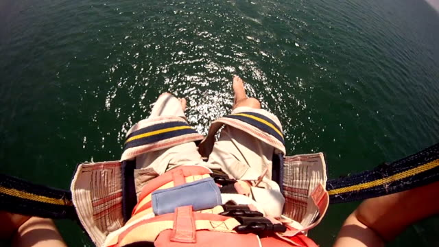 Parachuting above the sea video
