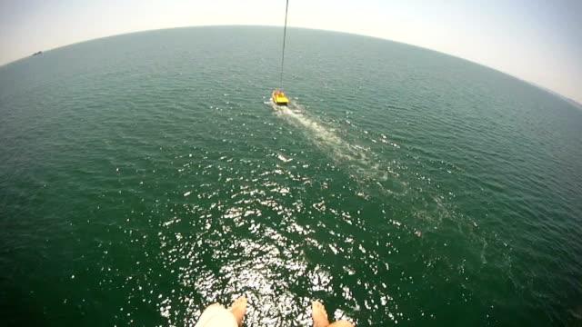 Parachuting over sea video
