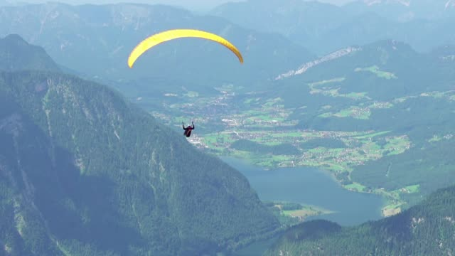 Paraglider Over Summer Valley