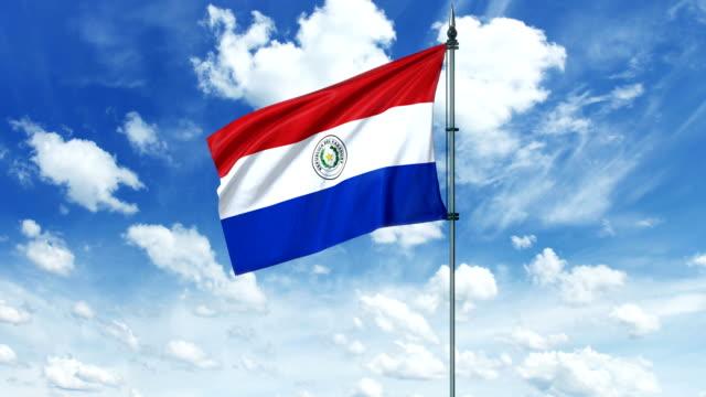 парагвай флаг анимации, альфа-канал - парагвай стоковые видео и кадры b-roll