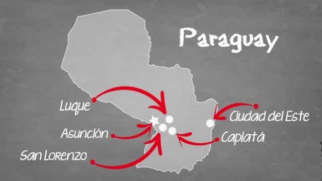 парагвай карта - парагвай стоковые видео и кадры b-roll