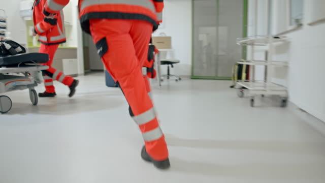 slo paramedic team having an emergency call - paramedic stock videos & royalty-free footage