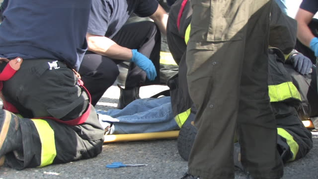 Paramedics At Emergency Scene - Real EMTs In Action video