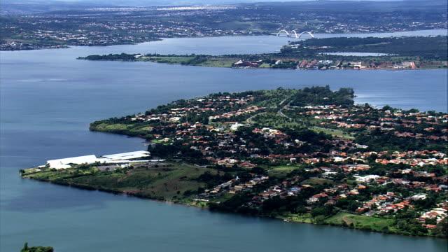 Lago Paranoá Vista aérea-Distrito Federal, Brasília, Brasil - vídeo