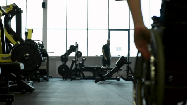 Paraplegic Man in Gym video