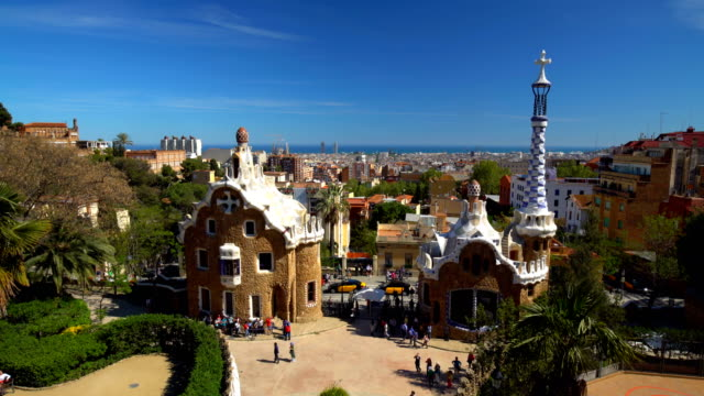 Parc Güll in Barcelona, Time Lapse video