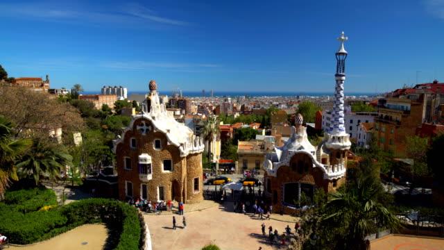 Parc Güll à Barcelone, Time Lapse - Vidéo