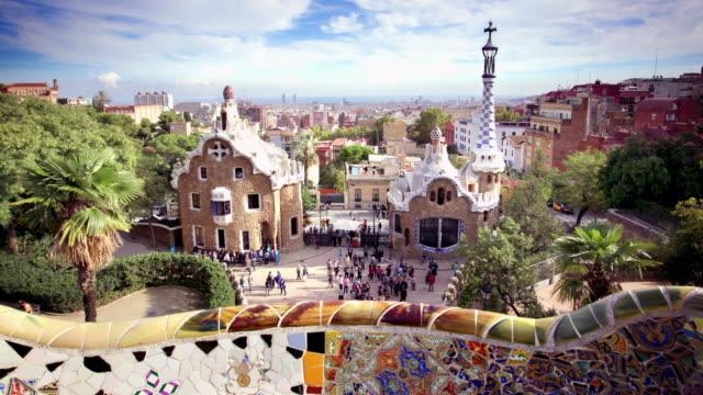 Parc Güell, Barcelone, Espagne - Vidéo
