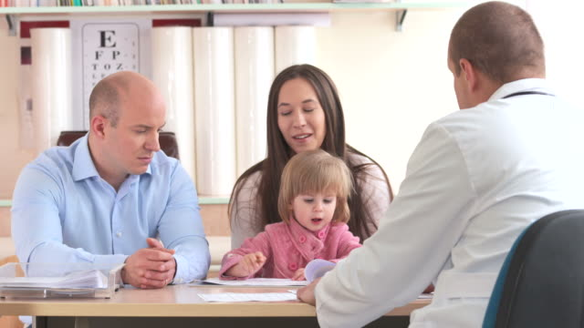 HD: Parents Having Discussion With Pediatrician video