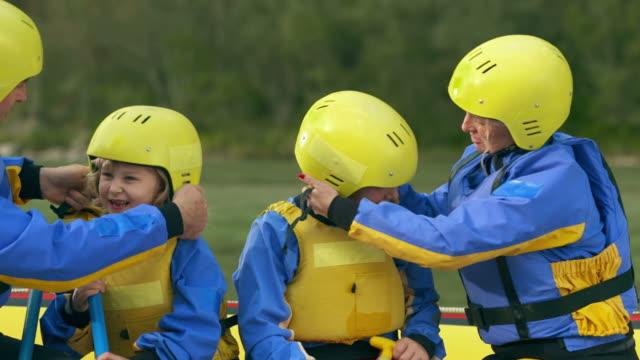 HD: Parents Preparing Kids For Rafting video