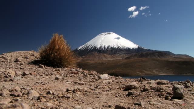 Parinacota volcano in Lauca National Park. video