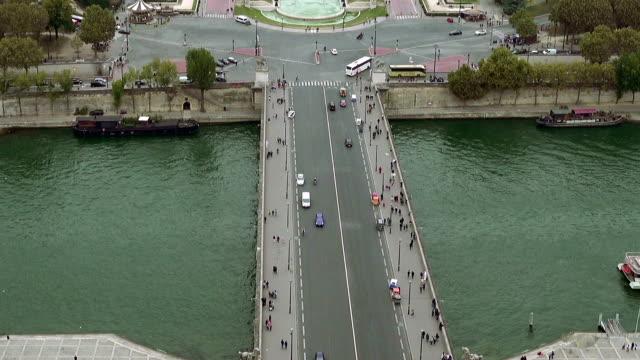 Paris aerial view of Trocadero video