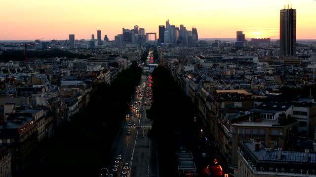 Geschäftsviertel Paris – Video