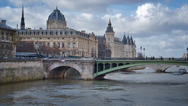 Paris Cityscape. City Bridge. River. Grand Architecture.