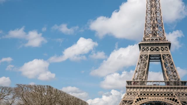 time lapse: paris eiffel towe - paris fashion stock videos & royalty-free footage