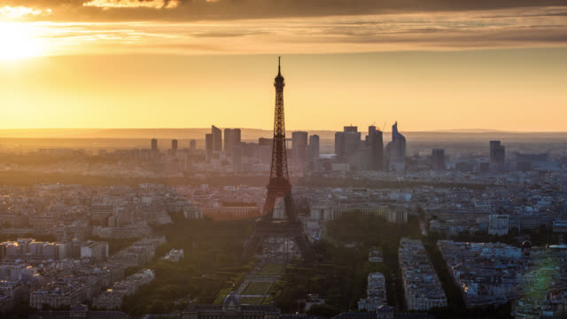 TIME LAPSE: Paris Eiffel Tower at Sunset video