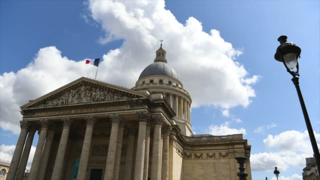 Paris, France - August 15th 2019 - Timelapse Pantheon building in the Latin Quarter in Paris Paris, France - August 15th 2019 - Timelapse Pantheon building in the Latin Quarter in Paris bastille day stock videos & royalty-free footage