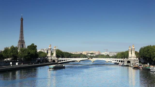 paris - la seine - french architecture stock videos & royalty-free footage