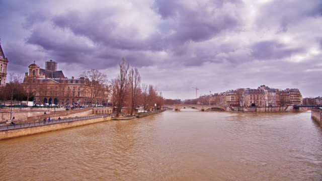 Paris panorama. River. Old Style building