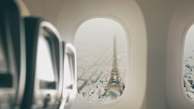 Paris seen from the airplane.