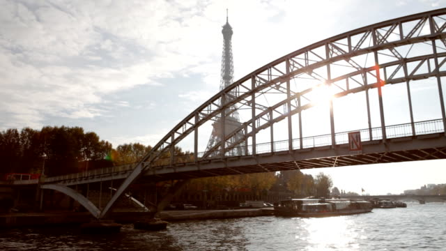 Paris Seine Eiffel Tower video
