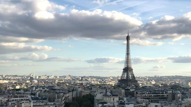 skyline von paris - paris stock-videos und b-roll-filmmaterial