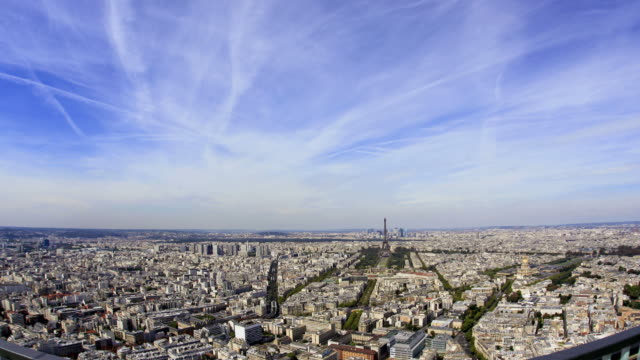 Paris timelapse aerial view 1080HD video