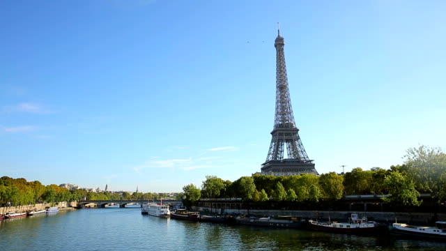 Paris with Eiffel Tower video