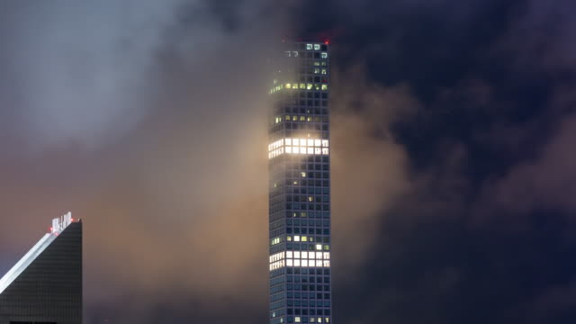 432 Park Avenue Building and Clouds Night Timelapse New York City video