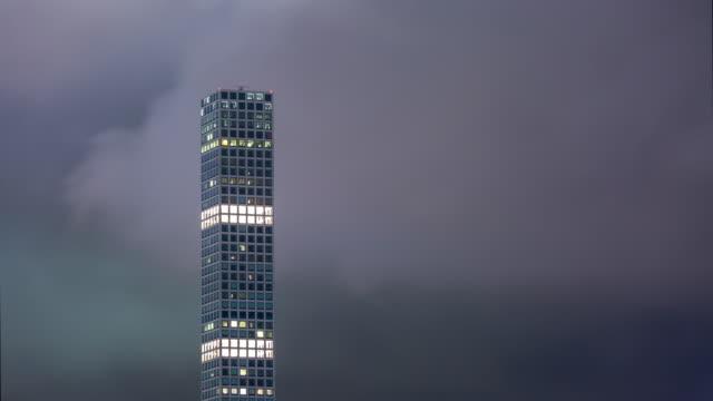 432 park avenue building, new york night timelapse - проспект стоковые видео и кадры b-roll