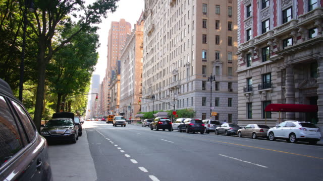 park avenue sunny day traffic street 4k time lapse from new york video