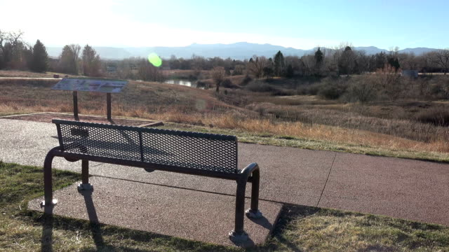 Park Bench with Awesome View video