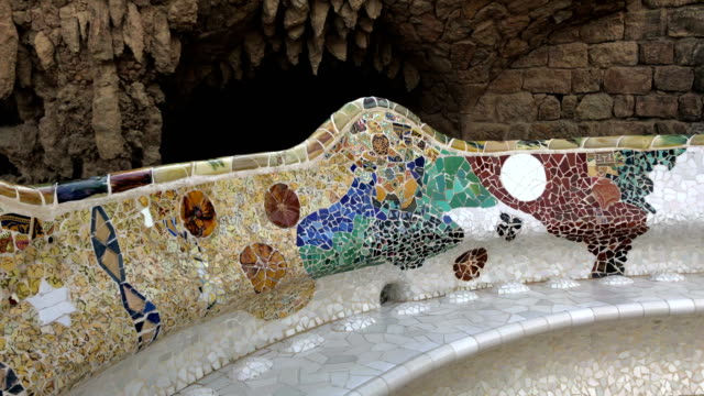 Park Guell bench in Barcelona video