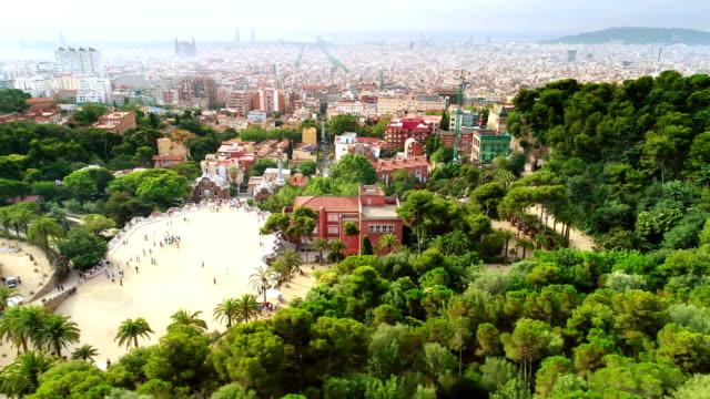 Parc Guell à Barcelone, Espagne  - Vidéo