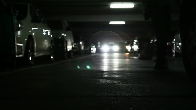 Parking lot in the shopping mall video