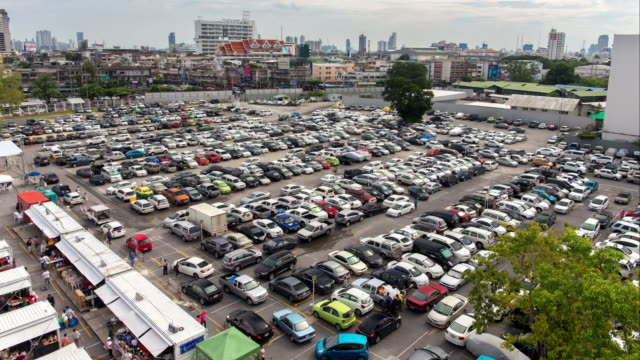 Parking Lot Time Lapse video