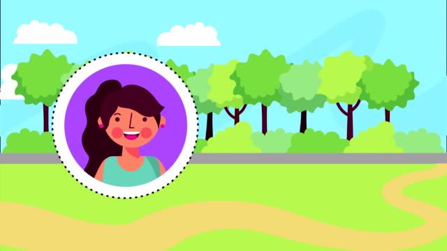 Parklandscape scene, FullHD video animation video