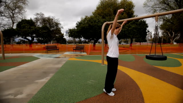 Parkour Girl doing Standing Backflip video