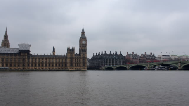 Parliament and Westminster Bridge time lapse video