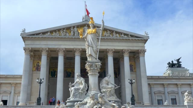 parliament building, vienna, austria, europe - neoclassical architecture stock videos & royalty-free footage