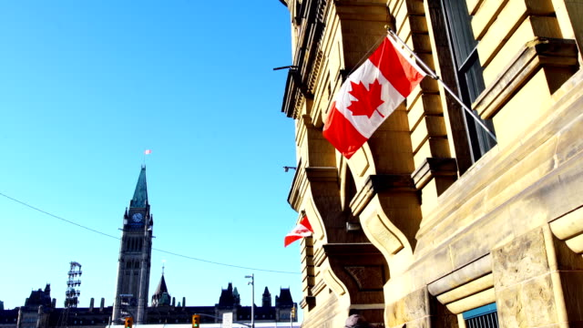 parliament hill of canada - politica e governo video stock e b–roll