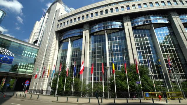 ブリュッセルでのフラグを持つ議会 ビデオ