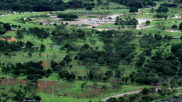 Parque Da Cidade-Vista aérea-Distrito Federal, Brasília, Brasil - vídeo