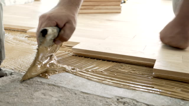 Parquet Floor Installation video