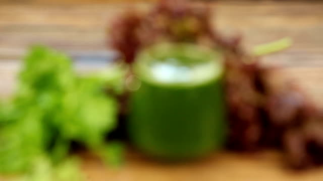 parsley and celery juice in glass on  table parsley and celery juice in glass on  table celery stock videos & royalty-free footage