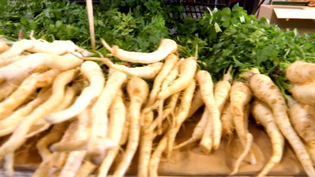 Parsnip. Fresh parsnip. Parsnip with parsley handheld moving shoot of Parsnip. Fresh parsnip. Parsnip with parsley parsley stock videos & royalty-free footage