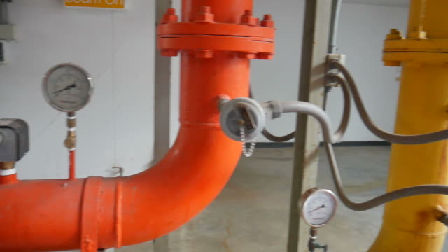 Part of factory machinery video