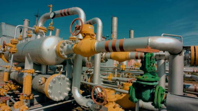 Part of Gas refining plant video