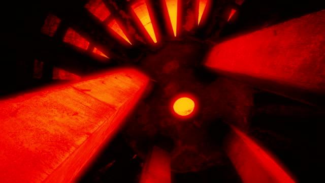 Part of overheated reactor