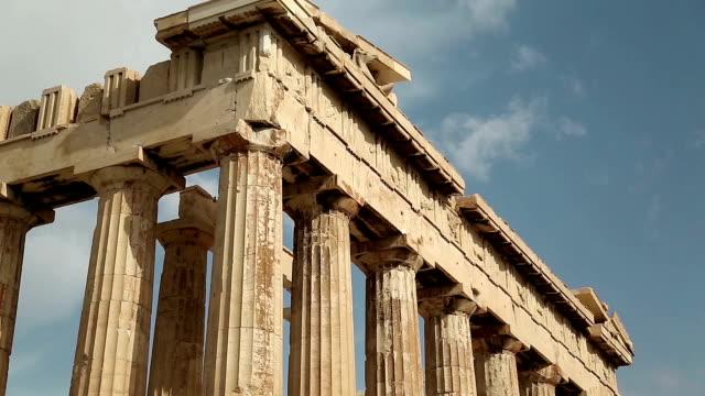 Parthenon - antique temple in Athenian Acropolis in Greece video